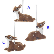 Furry Baby Deer Ornaments - $12.95