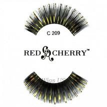 C209 Red Cherry Lashes Color Lashes Fake False Eyelashes US Seller - $3.75