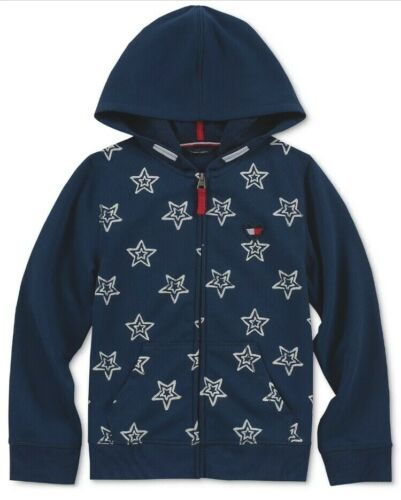 Primary image for Tommy Hilfiger Girls Star Zip-Up Hoodie Jacket Blue  Size XL