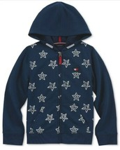 Tommy Hilfiger Girls Star Zip-Up Hoodie Jacket Blue  Size XL - $22.77