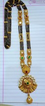 22KT GOLD NECKLACE PENDANT MANGALSUTRA NECKLACE HANDMADE TRADITIONAL JEW... - $2,960.10