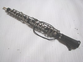 Musical Instrument Ornament  OBOE Black Silver Realistic Detailed - $13.81