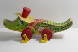 Fisher Price 1960's Allie Gator Wooden Pull Toy #653  - $27.71
