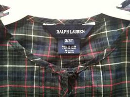 Ralph Lauren Girls Toddler New Multicolor 100%COTTON Blouse Short Sleeve Size 3T - $27.12