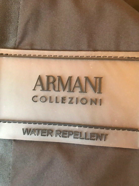 Armani Collezioni Ladies Black Shower Repellent Mid Length Coat Size 56 RRP £600