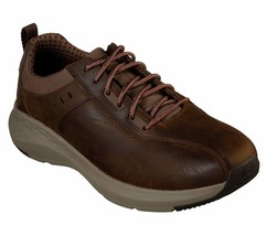 Skechers Brown shoes Men Memory Foam Sporty Casual Comfort Leather Oxfor... - $59.99