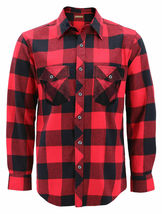 Men's Premium Cotton Button Up Long Sleeve Plaid Comfortable Flannel Shirt image 7