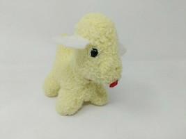 Eden Stuffed Plush Stuffed Animal Lamb Sheep Dog Wooly Cream Ivory Rattl... - $29.69