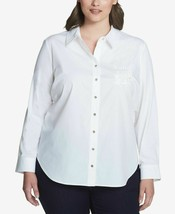 Tommy Hilfiger Plus Size Logo-Embroidered Shirt Size 1X - $32.99