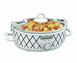 Crockpot 2.5-Quart Mini Casserole Crock Slow Cooker, White/Blue - €39,57 EUR