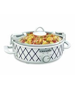 Crockpot 2.5-Quart Mini Casserole Crock Slow Cooker, White/Blue - £30.27 GBP