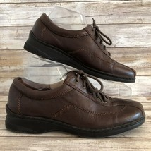 Naturalizer 8M Brown Leather Walking Comfort Sneaker Bicycle Toe Lace Up - $50.27 CAD