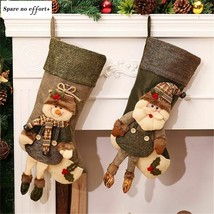 New Santa Sacks Tree Decoration For Holders Christmas Gift Bags Kid Cand... - $18.71