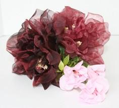 Adorable small bouquet faux flowers, wedding, basket decor, bike basket ... - $11.87