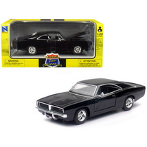 1969 Dodge Charger R/T Black Muscle Car Collection 1/25 Diecast Model Car by ... - $33.92