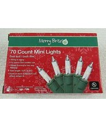 MERRY BRITE 70 Count Mini Christmas Lights Clear Bulb Green wire - $12.86