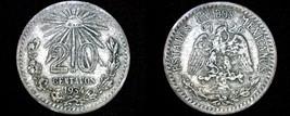1934 Mexican 20 Centavo World Silver Coin - Mexico - $17.99