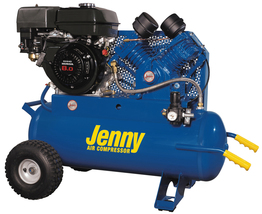 Jenny 9Hp 17Gallon 1Stage Truck Mount Gas Powered Air Compressor 15CFM G9HGA-17P - $2,450.00