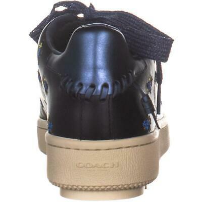 Coach Pradera Plataforma con Cordones Sneakers, Negro, 7.5 US/ 38 Eu