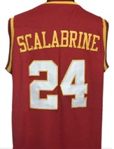 Brian Scalabrine College Basketball Jersey Sewn Maroon Any Size image 5