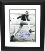 Johnny Lattner signed Notre Dame Fighting Irish B&W 8x10 Photo Custom Fr... - $85.00