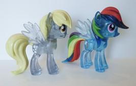 My Little Pony G4  Funko Vinyl Clear SDCC Glitter Rainbow Dash Derpy Muf... - $45.00