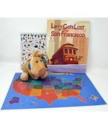 Larry Gets Lost in San Francisco by John Skewes Book with Larry Plush Do... - $34.99