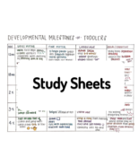 Developmental Milestones of Toddlers - NurseExplained - Study Sheets - $1.59