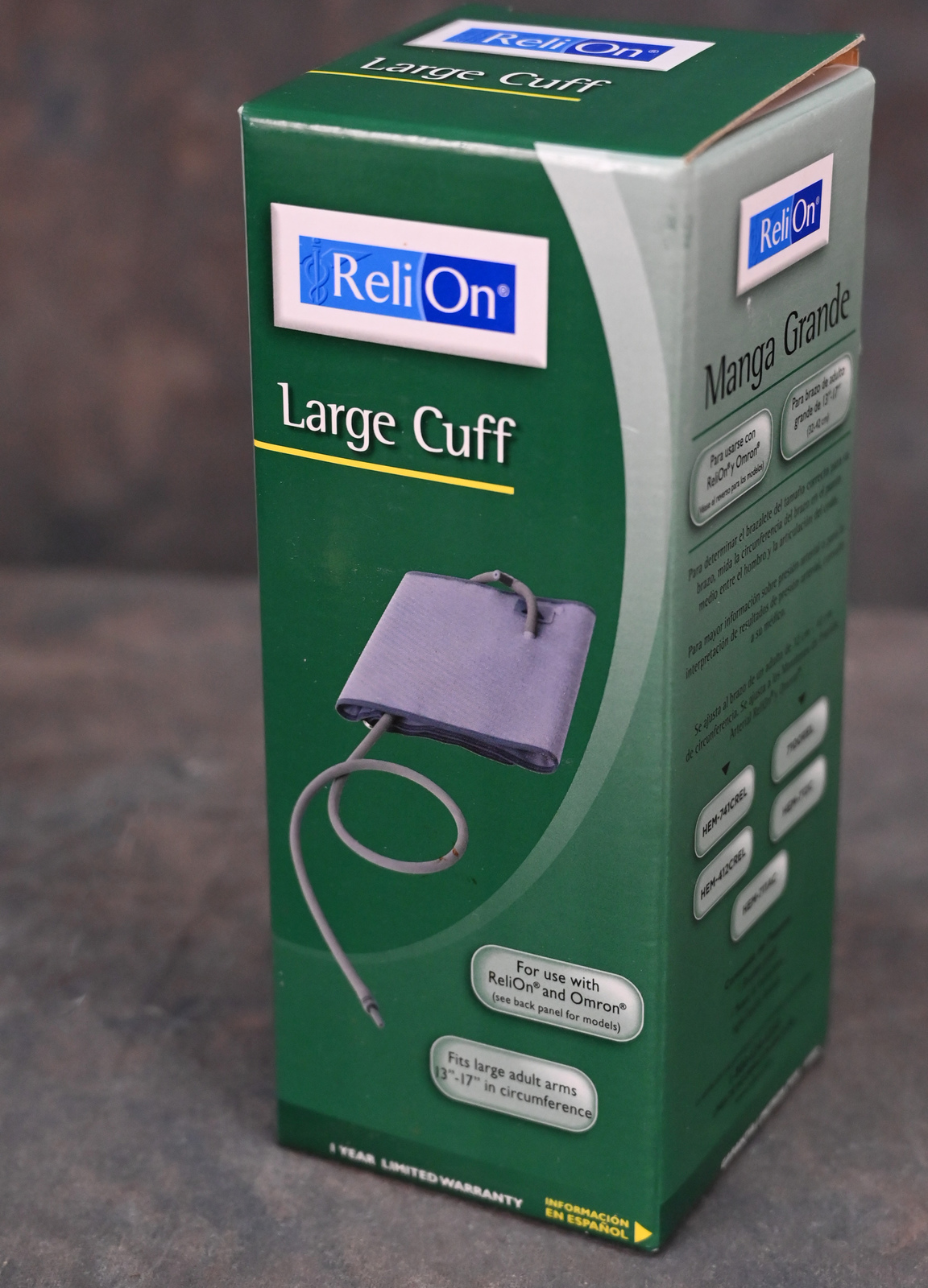 "Primary image for ReliOn Omron Large Cuff 13""-17"" Blood Pressure Cuff Adult H-003DREL"