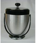 """Mid Century Kromex Vintage Retro Ice Bucket Aluminum Chrome Atomic 10"""" MCM - $17.81"""