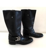 Christian Dior Black Leather Motorcycle Boots 38 - $225.00