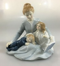 "Avon A Mother's Touch Porcelain Figurine 1984 Mom Children Book 5 1/2"" - $34.25"