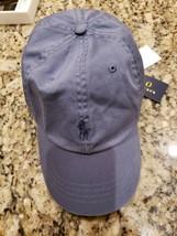 POLO RALPH LAUREN MEN'S CARSON BLUE CAP HAT WITH LOGO IN NAVY OSFA MSRP ... - $17.09