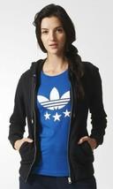 New Women Adidas SLIM ZIP HOODY Black Snake Trefoil  S M  firebird rita ... - $92.99