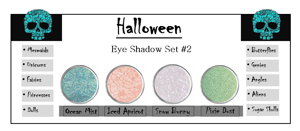 Primary image for Halloween Makeup Set Mermaid Costume Fairy Sugar Skull Sparkly Eye Shadow Vegan