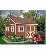 Best Barns Mansfield 12x12 Wood Storage Shed Kit - ALL Pre-Cut - $2,494.47