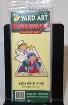 YARD ART Do It Yourself Pattern Kids with Star Outside Wood Christmas De... - $29.48