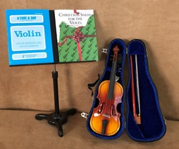 Violin Recital Set American Girl doll of today Christmas Solos Music stand - $54.50