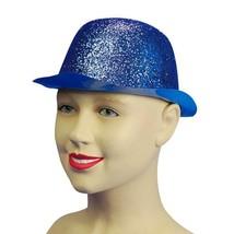 Azul Gliter Plástico Bombín, Baile / Disfraz Sombreros Accesorio - £1.91 GBP