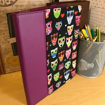 "iPad 9.7""  2 & 3 Griffin Bird Design Purple Folio Book Case & Multi Angl... - $29.76"