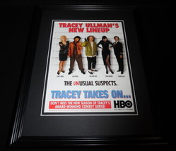 Tracey Takes On 1997 Framed 11x14 ORIGINAL Advertisement Tracey Ullman - $22.55