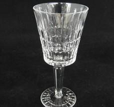 "Lenox Galaxy Crystal Wine Glass Vertical Cut Design 6.5"" Tall Flea Bite - $9.89"