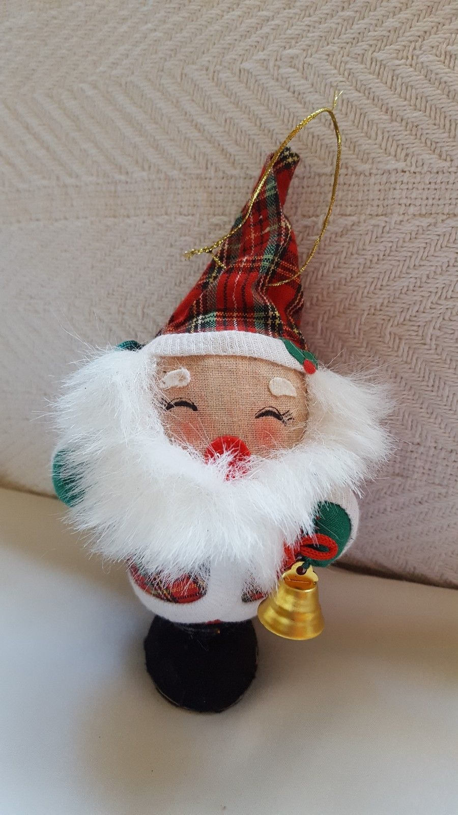 Primary image for Vintage Santa white beard Christmas Xmas tree holiday Ornament Decor pre-owned