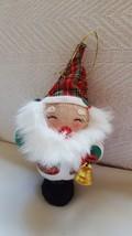 Vintage Santa white beard Christmas Xmas tree holiday Ornament Decor pre-owned - $13.21
