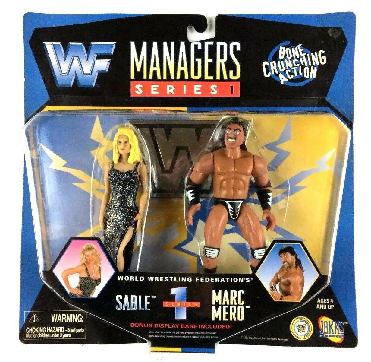 Primary image for Sable and Wildman Marc Mero Managers Series WWF WWE Jakks Figure 1997 Sealed