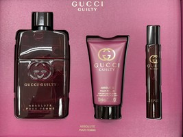 Gucci Guilty Absolute Pour Femme Perfume 3.0 Oz Eau De Parfum Spray 3 Pcs Set image 1