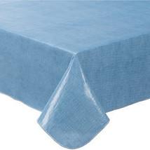 Illusion Weave Vinyl Drop Tablecover-60X120OBLONG-BLUE - $20.24