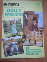 Vintage Patons Doll Fashions 12 patterns for Baby Toddler and Teenage Dolls - $5.99