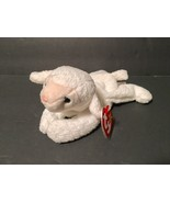 Ty Beanie Babies Plush Beanbag Fleece the Lamb Sheep White Pink Nose - $7.78