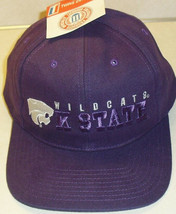 KANSAS STATE WILDCATS Vintage 90s Adjustable Strapback hat (New with Tags!) ncaa - $21.99